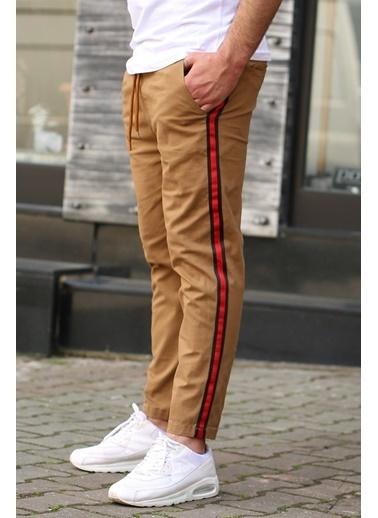 Madmext  Yandan Şeritli Jogger  Pantolon 4075 Camel